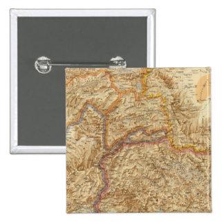 Frontera occidental del norte de la India Pin Cuadrada 5 Cm
