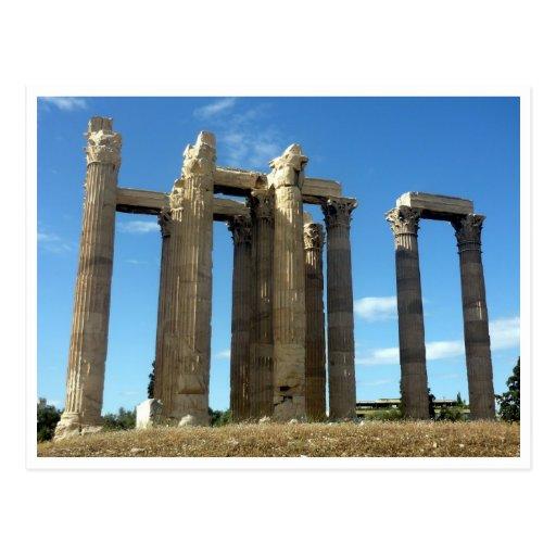frontera olímpica del zeus tarjetas postales