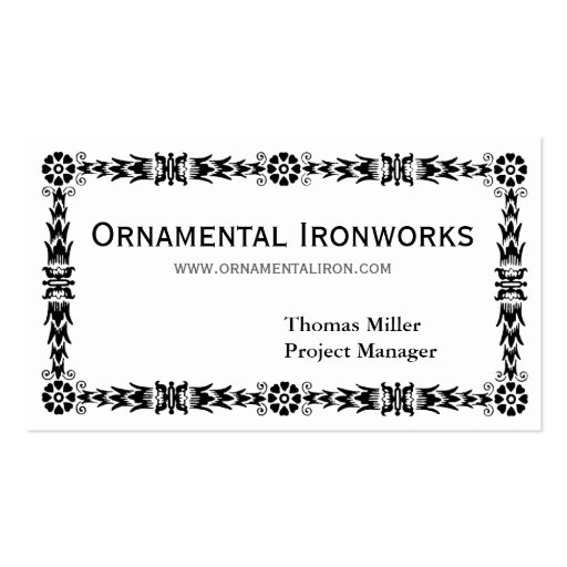 Frontera ornamental intrépida tarjetas de visita