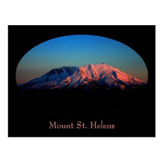 Frontera oval el Monte Saint Helens en la postal d