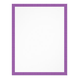Frontera punteada púrpura membrete a diseño