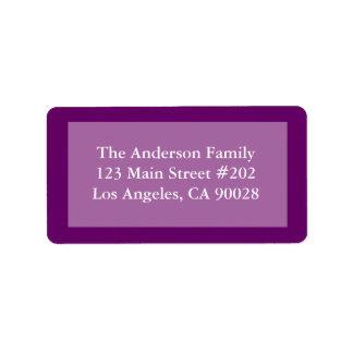 frontera púrpura del color etiquetas de dirección
