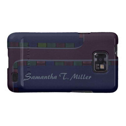 frontera púrpura oscura de la teja samsung galaxy s2 carcasas
