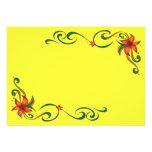 Frontera roja/amarilla de la flor anuncio