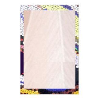 Frontera secada del vitral de la hoja n papeleria de diseño