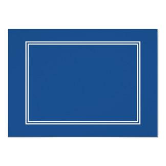 """Frontera sombreada blanca doble en azul de la invitación 4.5"""" x 6.25"""""""