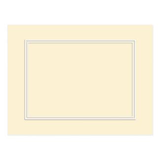 Frontera sombreada blanca doble en la crema del tarjetas postales