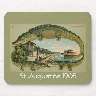 Frontera St Augustine la Florida 1905, St del coco Mousepads