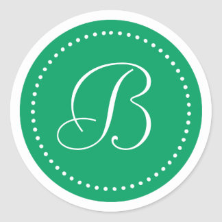 Frontera verde blanca del trébol redondo con etiquetas redondas