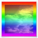 Frontera y capa del arco iris arte fotográfico
