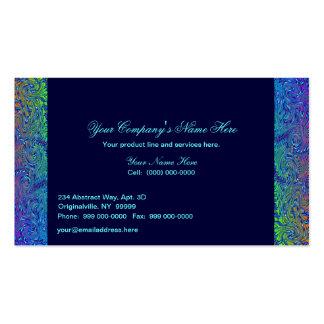 Fronteras abstractas en tonos azules tarjeta de negocio
