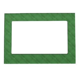 Fronteras de cuero verdes de la mirada foto de imanes