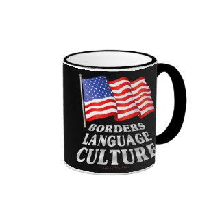 Fronteras, lengua, cultura taza de café