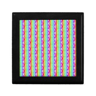 Fronteras mezcladas dulces, arco iris caja de regalo cuadrada pequeña