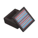 fronteras mezcladas, rojo azul cajas de regalo de calidad
