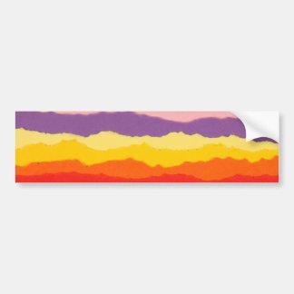 Fronteras rasgadas coloreadas de la tira de papel pegatina para auto