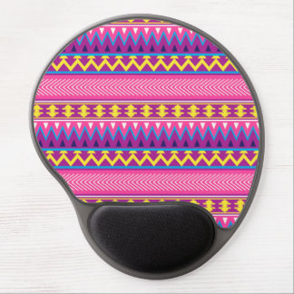 Fronteras tribales aztecas rosadas y púrpuras alfombrilla de raton con gel