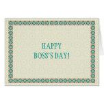 Fronteras y tarjeta del día de Boss de los modelos