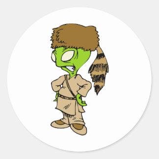 Frontier Alien Round Sticker