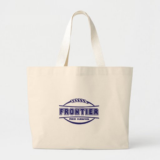 Frontier Red Hawks Logo final 1 color Navy Canvas Bags