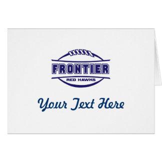 Frontier Red Hawks Logo final 1 color Navy Card