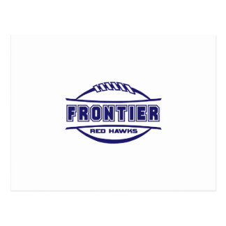 Frontier Red Hawks Logo final 1 color Navy Postcard