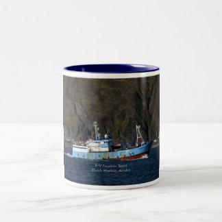 Frontier Spirit, Longliner in Dutch Harbor, AK Two-Tone Coffee Mug