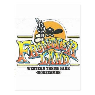 Frontierland Morecambe England Amusement Park Postcard