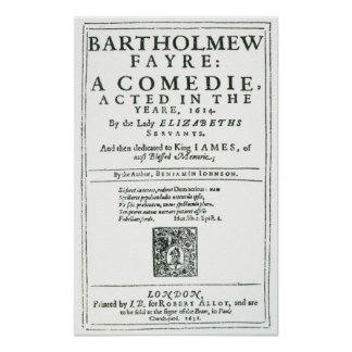 Frontispiece a 'Bartholomew Fair Posters