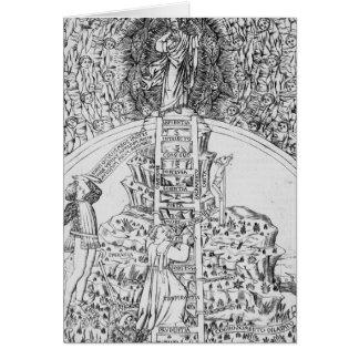 """Frontispiece a """"IL Monte Sancto di Dio"""", 1477 Tarjeta De Felicitación"""