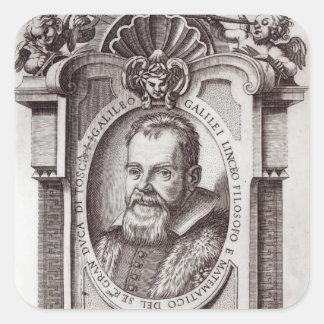 """Frontispiece a """"IL Saggiatore"""" por Galileo Pegatinas Cuadradas"""