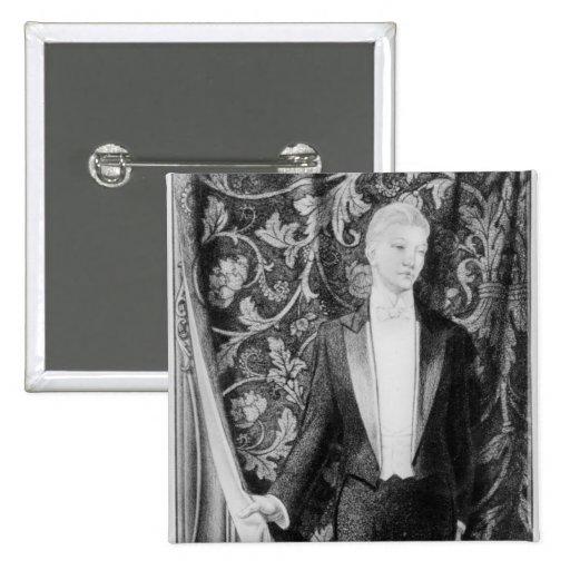 Frontispiece 'a la imagen de Dorian Gray Pin Cuadrado
