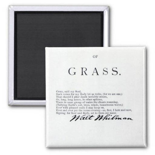 Frontispiece a las 'hojas de las hierbas iman de nevera