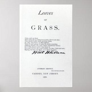 Frontispiece a las hojas de las hierbas impresiones