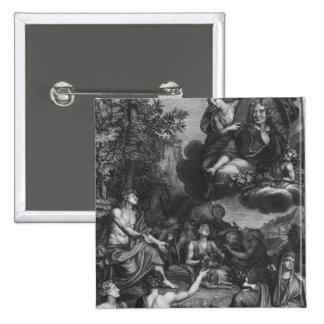 """Frontispiece a las """"obras de Nicolás Boileau Pin Cuadrada 5 Cm"""