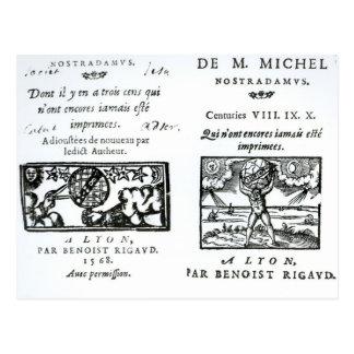 Frontispiece a las profecías tarjetas postales
