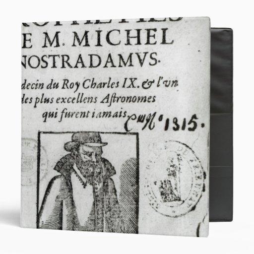 """Frontispiece a 'Les Propheties de M. Miguel Carpeta 1 1/2"""""""
