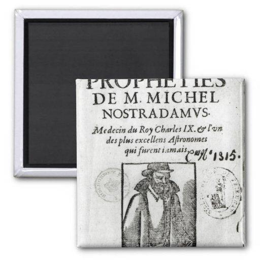 Frontispiece a 'Les Propheties de M. Miguel Imanes