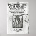 Frontispiece a 'Les Propheties de M. Miguel Póster