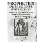 Frontispiece a 'Les Propheties de M. Miguel Postales