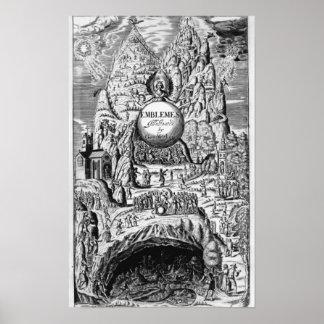 "Frontispiece a los ""emblemas"" de George Wither, 16 Póster"