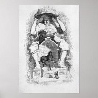 """Frontispiece a los """"viajes de Gulliver"""" cerca Póster"""