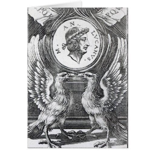 Frontispiece a 'Pharsalia de Lucan Tarjeta De Felicitación