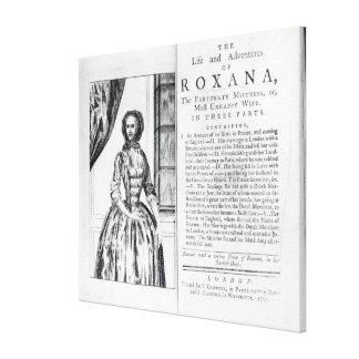 Frontispiece a 'Roxana, el afortunado Lienzo Envuelto Para Galerías
