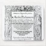 Frontispiece a una cuenta del parlamento tapetes de raton