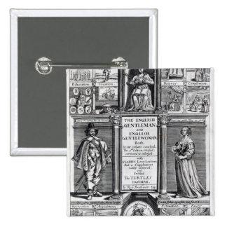 Frontispiece 'al caballero inglés pin cuadrada 5 cm