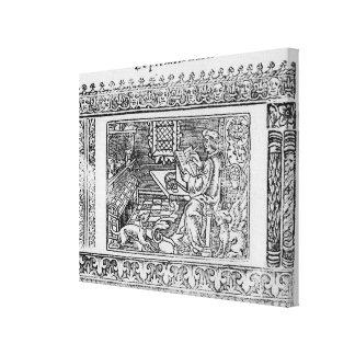 Frontispiece al primer libro de Utopía Lienzo Envuelto Para Galerías