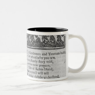 Frontispiece and opening lines Two-Tone coffee mug