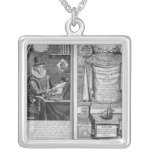 Frontispiece and Titlepage Square Pendant Necklace