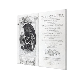 Frontispiece and Titlepage to 'A Tale of a Canvas Print